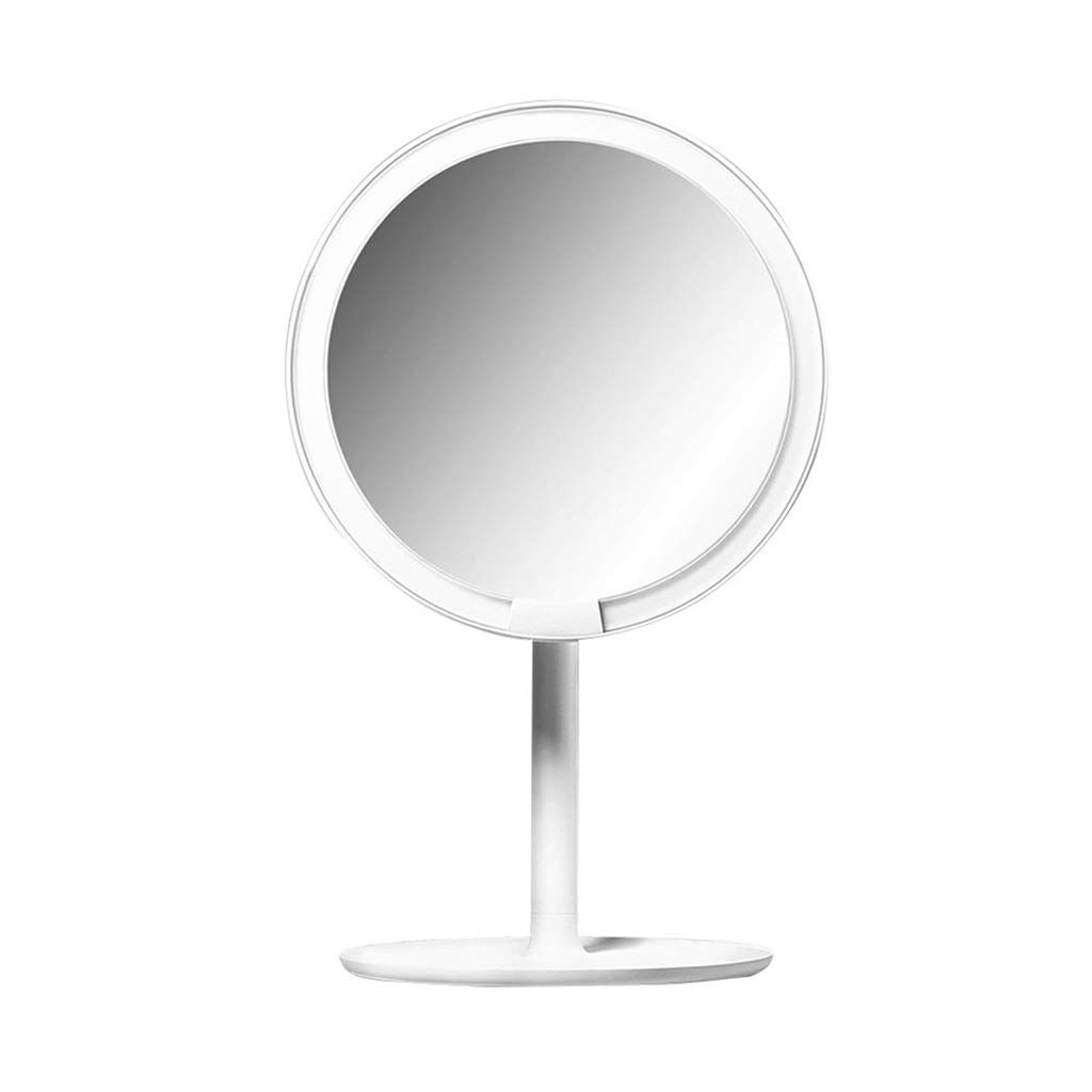 Vanity Mirrors HD Daylight Smart Led Makeup Mirror Desktop Portable Fashion Multi-Function Mirror Countertop