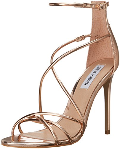 Steve Madden Women's Satire Dress Sandal, Rose Gold, 6 M US
