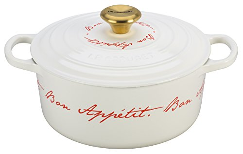 Le Creuset Signature Enameled Cast-Iron 4-1/2-Quart Round French (Dutch) Oven, White