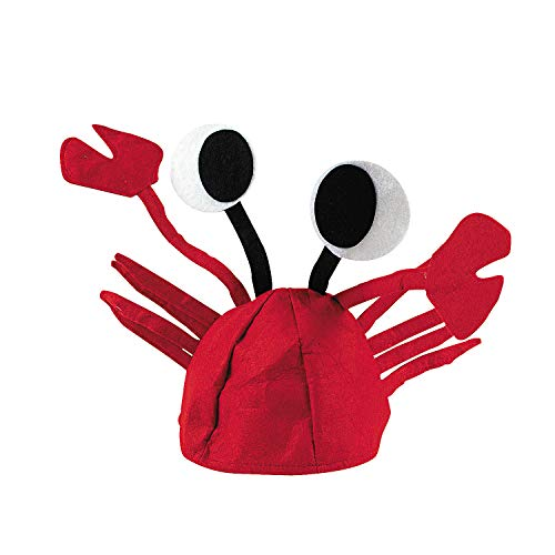 Fun Express - Felt Crab Hat for Party - Apparel Accessories - Hats - Novelty Piece Hats - Party - 1 Piece ()