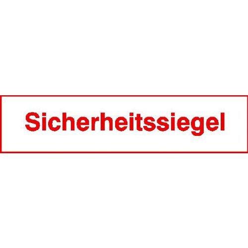INDIGOS UG - Sicherheitssiegel aus Dokumentenfolie, 10 Stück auf Bogen rot/weiß 6, 50x1, 50 cm