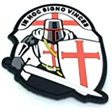 Crusader 'In Hoc Signo Vinces ' Knights Templar Airsoft PVC Moral Parche