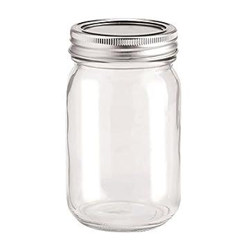 NEU Deko- Glas mit 2-tlg. Deckel 420ml, 1 Stück: Amazon.de: Küche ...