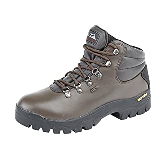 Mens / Boys Johnscliffe HIGHLANDER Waterproof Hiking Boot BROWN full grain leather size 6