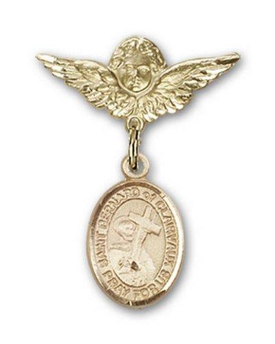 Icecarats Or Bijoux De Créateurs Rempli R. Bernard De Clairvaux Broches Badge Charme D'Ange 1 X 3/4