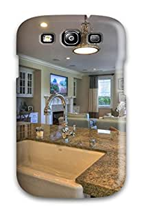 Awesome Design Traditional Kitchen With Large Island Hard Case Cover For Galaxy S3