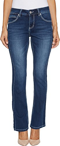 Jag Jeans Women's Petite Bianca Boot Jean, Bucket Blue, 2P by Jag Jeans
