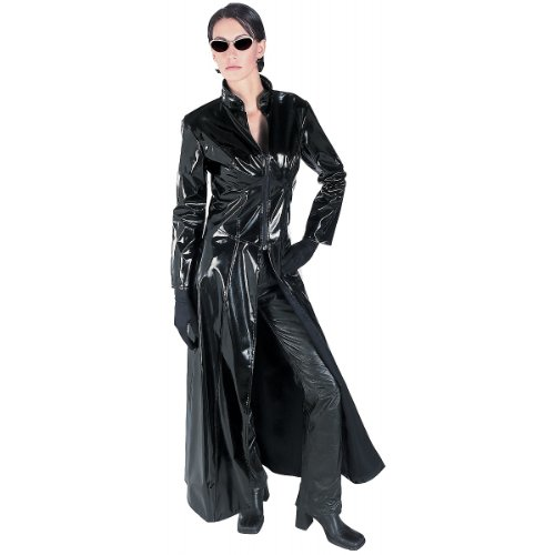 Rubie's Costume CO Women's Grand Heritage Deluxe Matrix 2 Trinity Costume, Black, - From Matrix The Sunglasses
