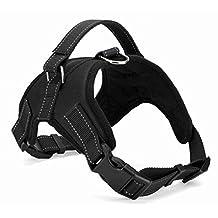 SF.Z Dog leash, Dog Harness Dog Collar Harness, Dog Vest Dog Chest Strap Dog Walking Vest Dog Safety Vest, Comfortable and Compact (Black/ Medium)