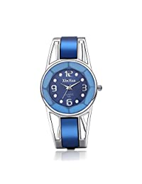 Women's Diamond watch Stainless Steel Quartz Ladies Dress Blue Bracelet Bangle Girls WristWatches