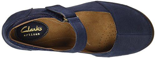 Clarks Women's Autumn Stone Wedge Heels Sandals Blue (Navy Nubuck) cheap sale release dates JV204