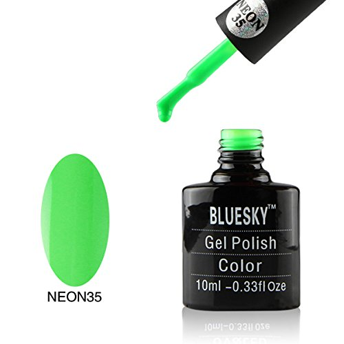 Bluesky Neon Gel Polish, Go Green Glow Number 35 10 ml BLUNEON35