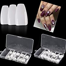 Coffin Nail Tips False Nails Nail Art Ballerina Nails Acrylic Full Cover 100pcs...