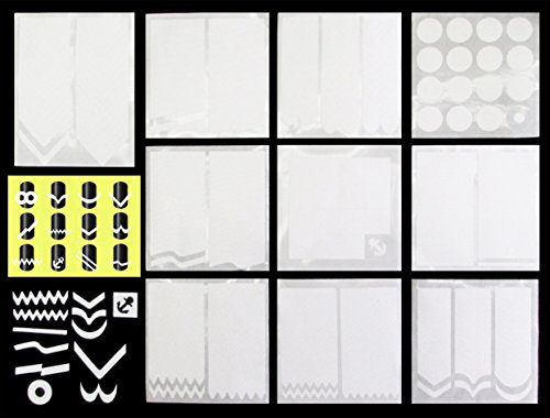 HipGirl Nail Art Supplies–Ship From USA, 27 Sheets (999pc) of Salon Quality French Tip Guides Sticker (3 Sheets Per Style), 3 Free Anchor Sheets