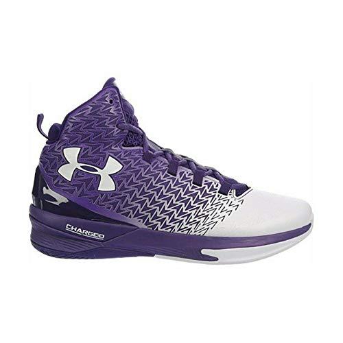 Under Armour Men's ClutchFit Drive 3 Basketball Shoe (10, Purple/White)