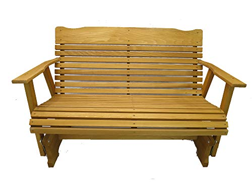 Kilmer Creek 4' Cedar Porch Glider W/stained Finish, Amish Crafted (Settee Furniture Wood)