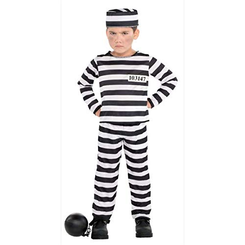 Boys Mischief Maker Prisoner Costume - X-Large (14-16)