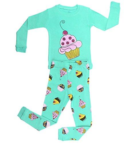 Elowel Girls Cupcake 2 Piece Pajama Set Size 4 - Cupcake Pajama Set