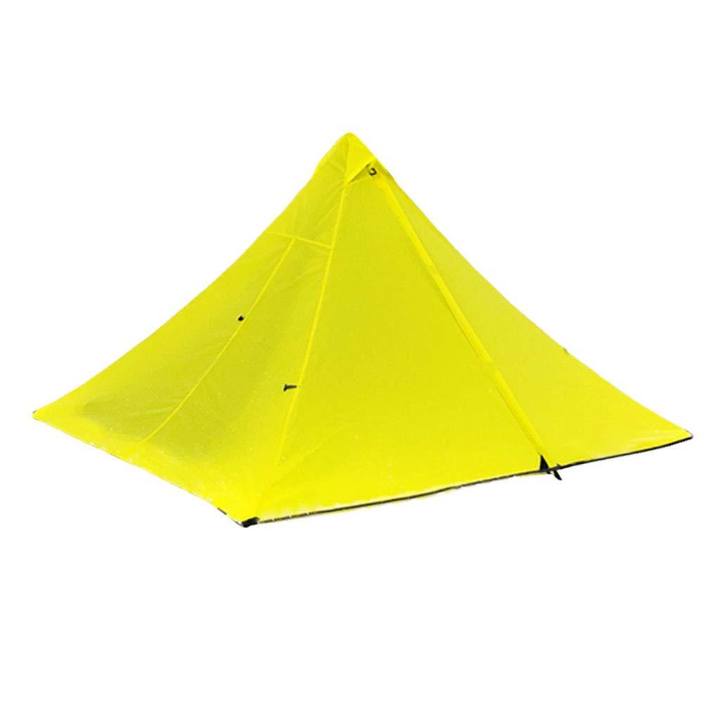 Baosity 軽量 キャンプ ハイキング ピラミッド テント トレッキング ポール ネット キャノピー 270x160x125cm イエロー B07JL237W6