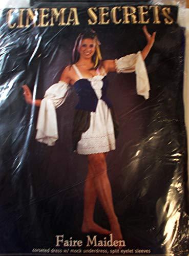 Faire Maiden Renaissance Dress Adult Costume Small 8-10 NIP -