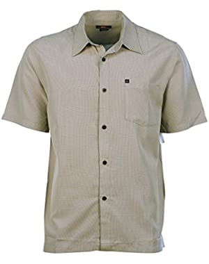 Men's Linx Plaid Button Down Pocket Shirt-Pewter