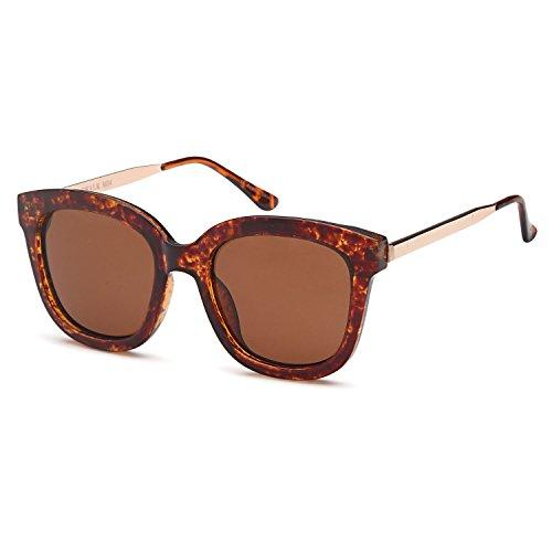 Sunglasses Brown Lens Tortoise Frame - CATWALK Womens UV400 Oversized Polarized Sunglasses – Brown Lens on Tortoise Frame