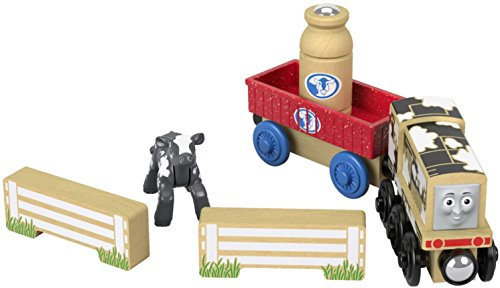 Fisher-Price Thomas & Friends Wood, Diesel's Dairy - Wooden Aquarium Railway Thomas