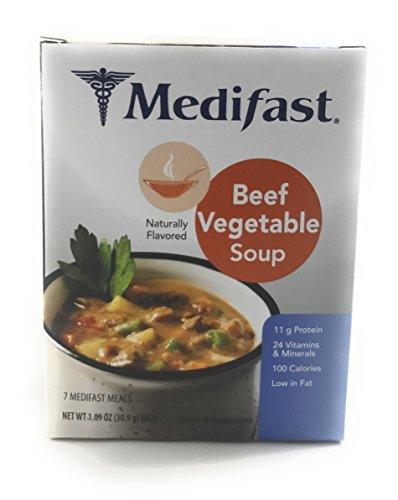 Medifast Beef Vegetable Soup  1 Box 7 Servings