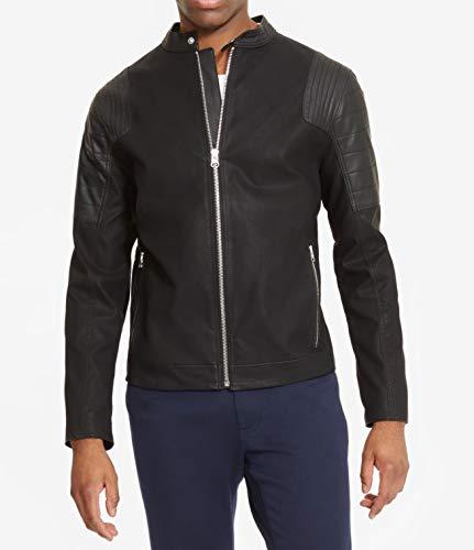 Reaction Kenneth Cole Moto Mock Pleather Jacket X-Large Black (Kenneth Cole Reaction Faux Leather Moto Jacket)