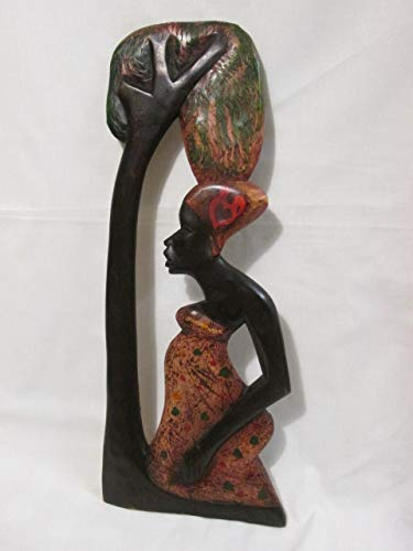 Amazoncom African Art Wall Hanging Hand Carved Wood