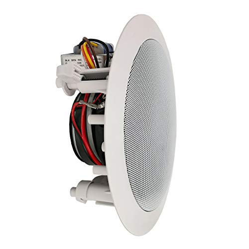 """Ceiling and Wall Mount Speaker - 5.25"""" 2-Way 70V Audio Ste"""