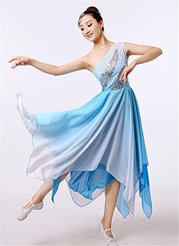 Costume National Suit (Woman's national dance costume dress / ballet show/ traditional dance suit , blue , l)