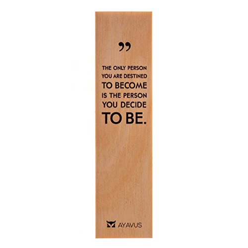 The Only Person You Are Destined To Become Motivational Quotes Ultra Thin Eco Wood Bookmark Made In The USA