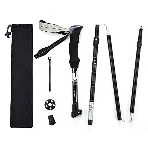 Hiking Poles - TOMSHOO Trekking Poles Collapsible, Lightweight, Shock-Absorbent Quick Locks, Aluminum 7075 Hiking Poles for Hiking/Camping/Climbing 4 Season/All Terrain Accessories and Carry Bag