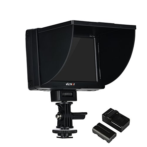 VILTROX DC-50 5'' inch LCD portable Camera Field monitor , TFT HD video monitor with FM50 battery / sunshade cover /hot shoe mount , support peaking feature by VILTROX (Image #1)