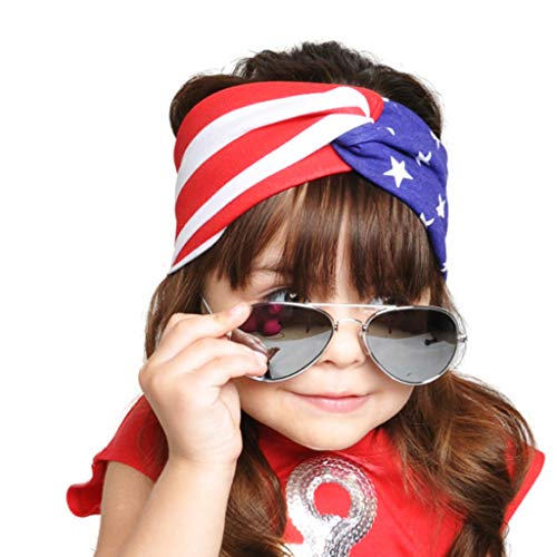 Tantisy ♣↭♣ Baby Star and Striped Hairband/Independence Day Accessories/4th of July Dress Up Headwrap/Toddler Girls ()