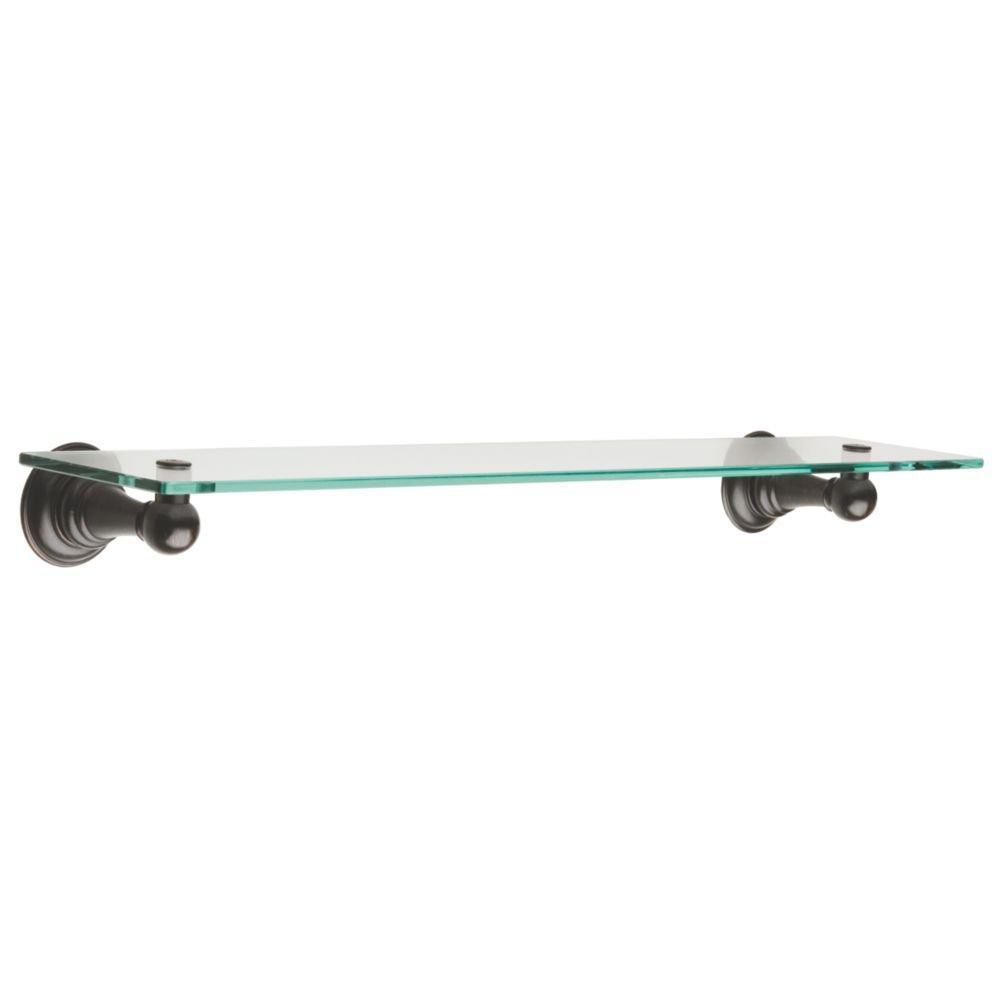 Glass Bathroom Shelf Delta Faucet 134441 Providence Bath Hardware Accessory 18 Glass