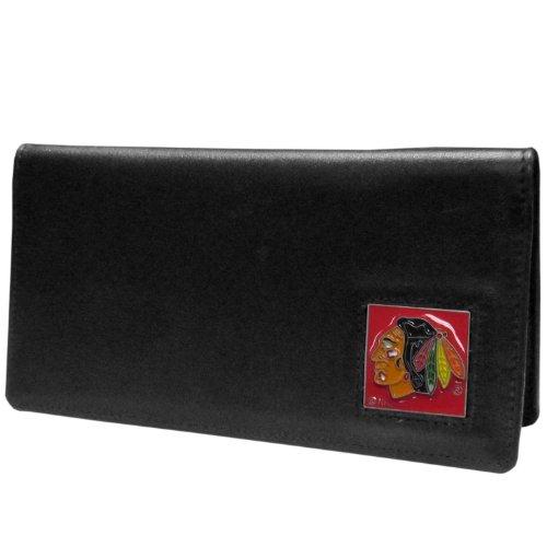 (NHL Chicago Blackhawks Executive Genuine Leather Checkbook Cover)