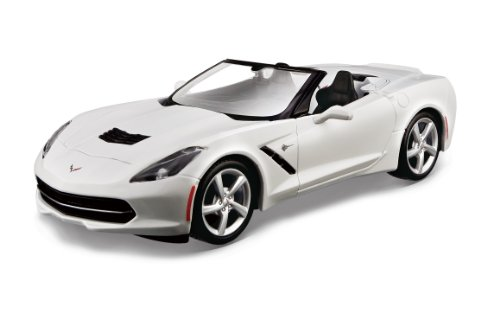 Car Die Kits Cast Model - Maisto 1:24 Scale Assembly Line 2014 Corvette Stingray Convertible Diecast Model Kit (Colors May Vary)