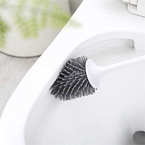 ecoco Porte-brosses WC /à Poils Souples Blanc//Gris