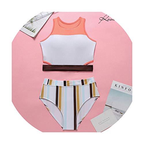 2019 Summer Bikini Beachwear Sexy Two Piece Set Women Swimsuit High Waist Fashion ()