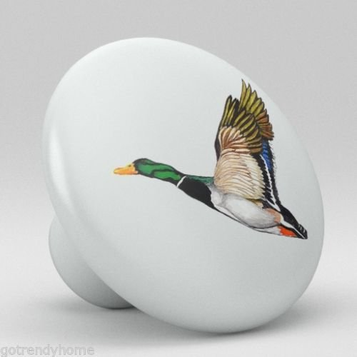Big-Deal - Flying Mallard Duck Ceramic Knobs Pulls Kitchen Drawer Cabinet Vanity Closet 284