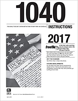 1040 Instructions 2017 Internal Revenue Service Irs