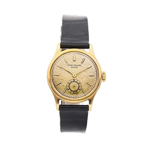 Patek Philippe Calatrava Mechanical (Hand-Winding) Silver Dial Mens Watch 2451J (Certified - Mechanical Watch Patek Calatrava Philippe
