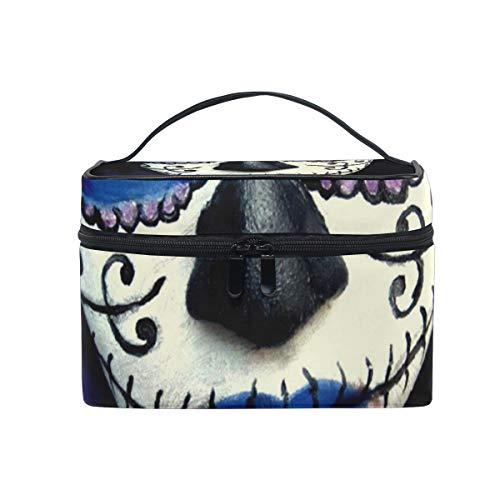Makeup Bag Guy Sugar Skull Makeup Girls Travel Cosmetic Bag Womens Toiletry Organizer for $<!--$12.99-->