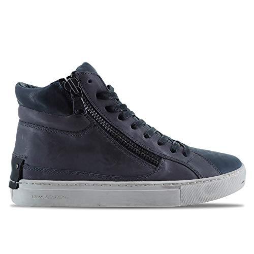 da Jason Grigio Pelle 11329AA1 Crime in Alte Uomo London Sneaker wtPcxXq7U