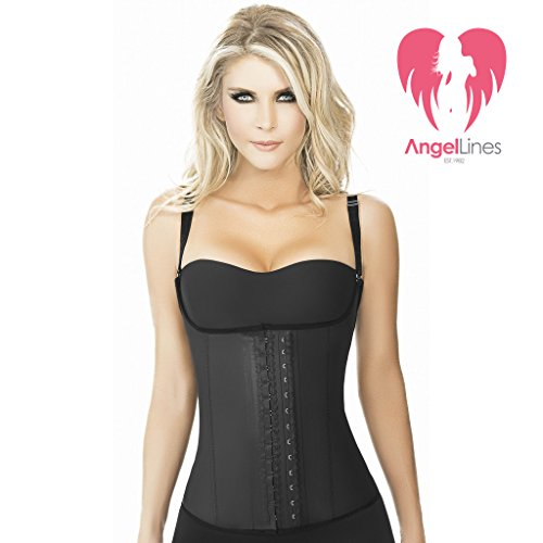 Angel Lines Waist Trainer Cincher - Corset Vest for a slimmer silhouette - Black-XL (Animal That Starts With M)