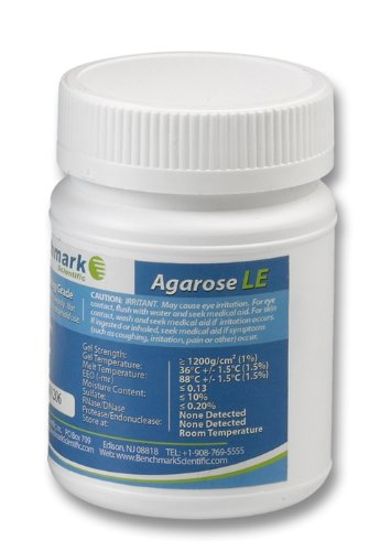 Benchmark Scientific A1701 Organic Solvent Free Agarose LE, 100g Capacity