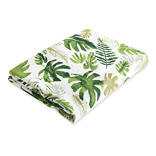 Jiquan Baby Muslin Swaddle Blankets for Boys and Girls, Organic Bamboo Swaddle Wrap Receiving Blankets, Super Soft, Breathable and Comfortable, Ideal Baby Shower Gift, 47 x 47 inches (Rainforest) ()