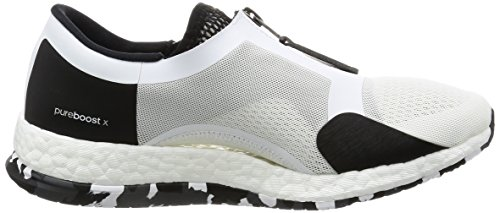 adidas Damen Pureboost X TR Zip Laufschuhe Elfenbein (Ftwbla/negbas/grpudg)